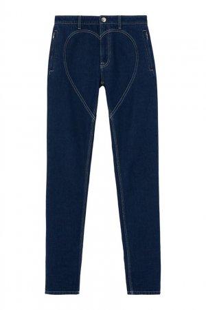 Зауженные джинсы с отстрочкой Heart Burberry. Цвет: синий