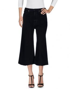 Джинсовые брюки-капри TRUE NYC.. Цвет: черный