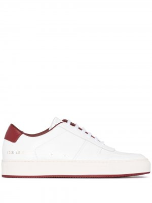 White and Red Low Top '70s Sneakers Common Projects. Цвет: белый