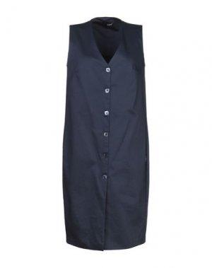 Платье до колена B.YU. Цвет: темно-синий