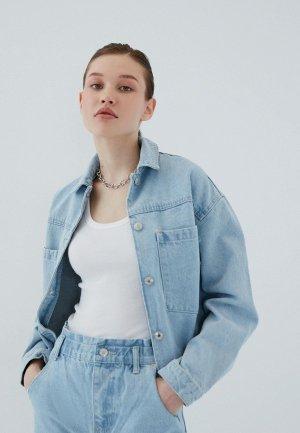 Куртка джинсовая Zarina. Цвет: голубой
