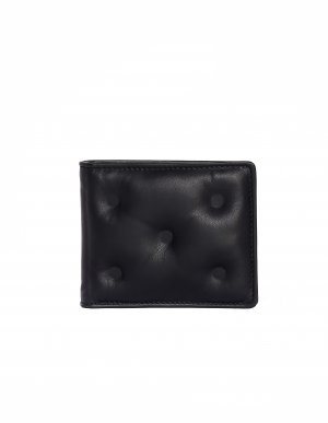 Черный кожаный кошелек Glam Slam Maison Margiela