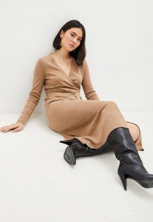 Платье Diane von Furstenberg. Цвет: бежевый