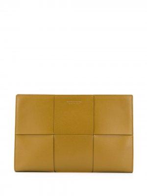 Папка для документов с плетением Intrecciato Bottega Veneta. Цвет: коричневый