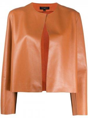 Куртка без застежки Antonelli. Цвет: коричневый