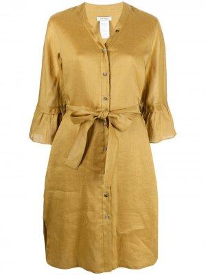 S Max Mara платье-рубашка с завязками 'S. Цвет: желтый