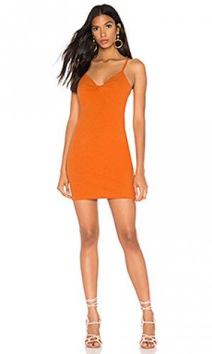 Мини платье noida twist front MINKPINK. Цвет: оранжевый