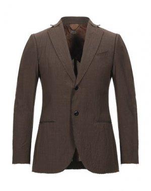 Пиджак MAURIZIO MIRI. Цвет: коричневый