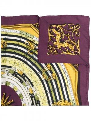 Платок pre-owned с принтом Hermès. Цвет: фиолетовый