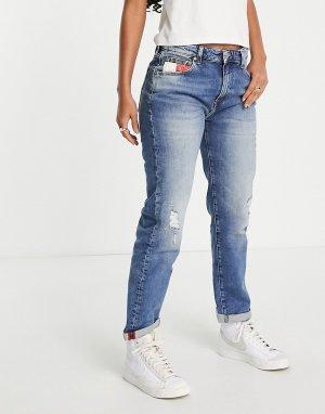 Голубые джинсы бойфренда -Голубой Tommy Jeans