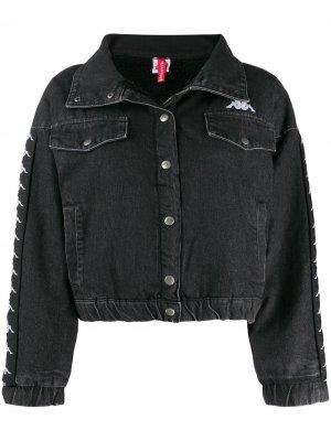 Джинсовая куртка с логотипом Kappa. Цвет: черный