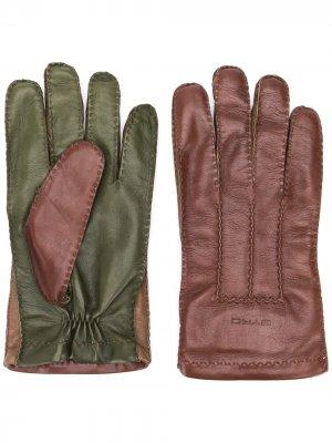 Перчатки в двух тонах Etro. Цвет: коричневый