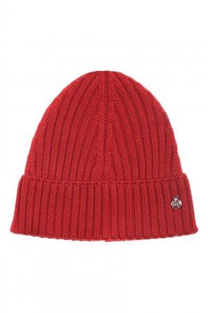 Красная шапка из шерсти Bosco. Цвет: красный