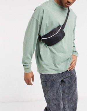 Черная сумка-кошелек на пояс k экслюзивно для ASOS-Черный Mi-Pac