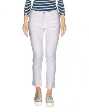 Джинсовые брюки-капри 2W2M. Цвет: белый