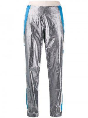 Укороченные спортивные брюки 8pm. Цвет: серый