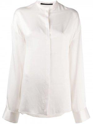 Рубашка с воротником-стойкой Haider Ackermann. Цвет: нейтральные цвета