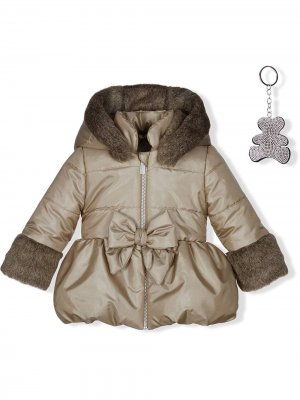 Bow detail padded coat Lapin House. Цвет: нейтральные цвета