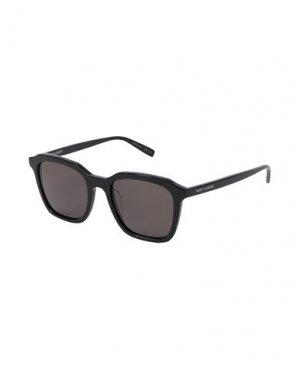 Солнечные очки SAINT LAURENT. Цвет: черный