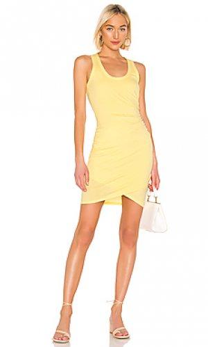 Платье-майка supreme jersey Bobi. Цвет: желтый