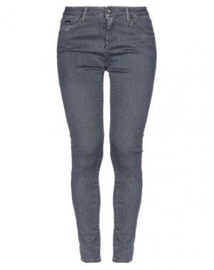 Джинсовые брюки MICHAEL COAL. Цвет: свинцово-серый