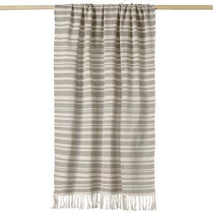 Пляжное полотенце TEREK LA REDOUTE INTERIEURS. Цвет: черный/ белый