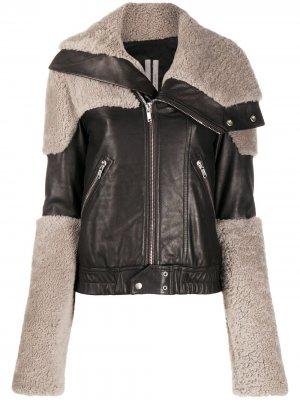 Байкерская куртка со вставками Rick Owens. Цвет: черный