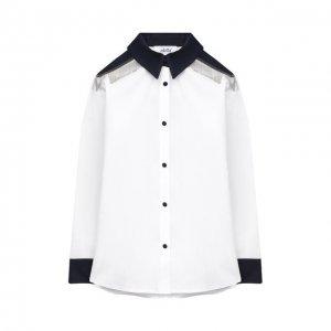 Хлопковая блузка Aletta. Цвет: белый