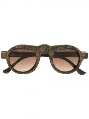 Солнцезащитные очки-авиаторы Rigards. Цвет: коричневый