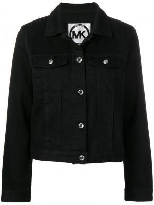 Базовая джинсовая куртка Michael Kors. Цвет: черный