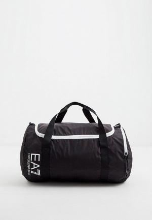 Сумка спортивная EA7. Цвет: черный