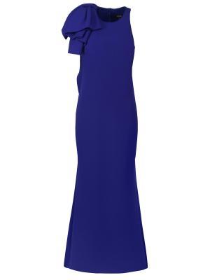 Вечернее платье BADGLEY MISCHKA. Цвет: синий