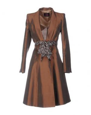 Легкое пальто BETTA CONTEMPORARY COUTURE. Цвет: какао