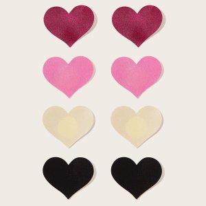 Многоцветный Грудные силиконовые наклейки Аксессуары для белья SHEIN. Цвет: многоцветный
