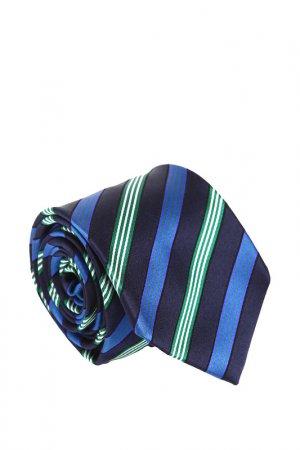 Галстук Ascot. Цвет: темно-синий, синий, зеленый