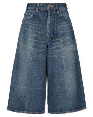 Джинсовые брюки-капри CELINE. Цвет: синий