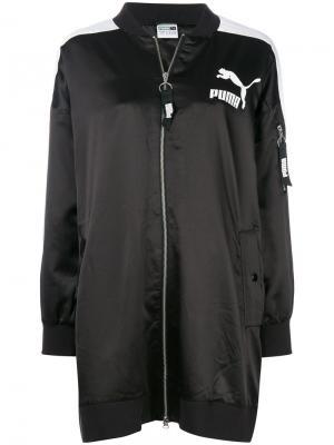 Длинная куртка-бомбер Archive T7 Puma. Цвет: чёрный