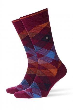 Бордовые носки Newcast Burlington. Цвет: бордовый