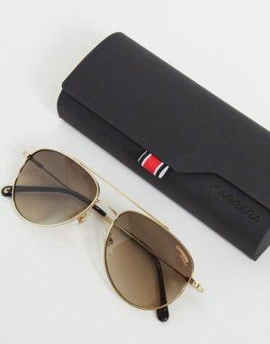 Солнцезащитные очки-авиаторы в стиле унисекс 187/S-Золотистый Carrera