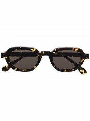 Солнцезащитные очки Banks черепаховой расцветки Han Kjøbenhavn. Цвет: коричневый