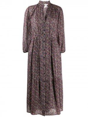 Платье миди Dean с графичным принтом Ba&Sh. Цвет: розовый