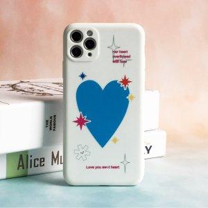 Чехол для телефона с рисунком сердца SHEIN. Цвет: многоцветный