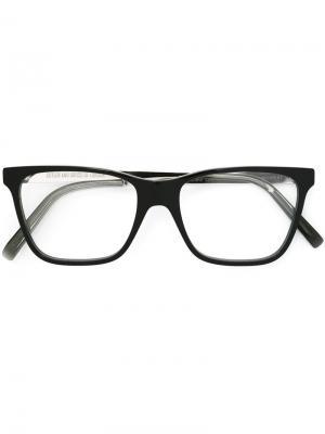 Очки в квадратной оправе Cutler & Gross. Цвет: чёрный