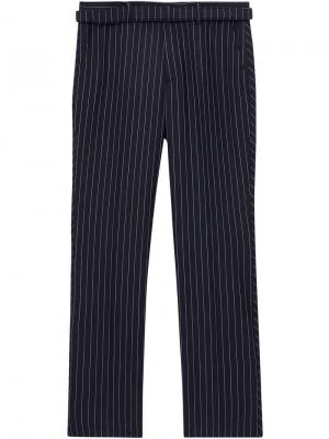 Классические строгие брюки в тонкую полоску Burberry