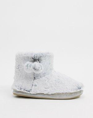 Светло-серые ботинки-слиперы -Серый Accessorize