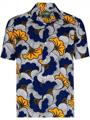 Рубашка Africa с цветочным принтом Gitman Vintage. Цвет: синий