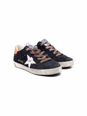SUPERSTAR low-top sneakers Golden Goose Kids. Цвет: синий