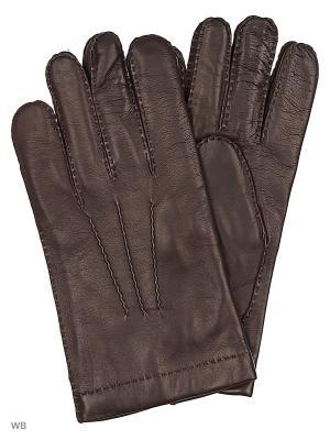 Перчатки Malo. Цвет: темно-коричневый