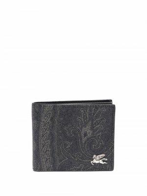 Бумажник с принтом пейсли ETRO. Цвет: серый