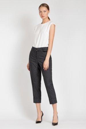 Зауженные брюки с высокой талией VASSA&Co. Цвет: черный
